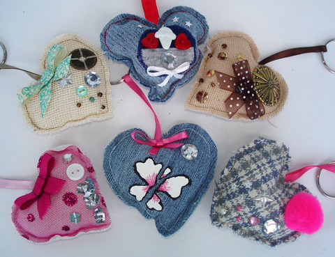 chunchitos fabric hearts