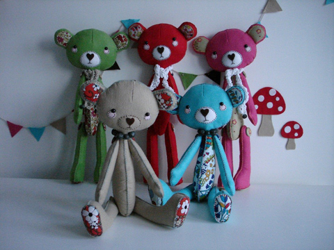 supercutetilly felt bears